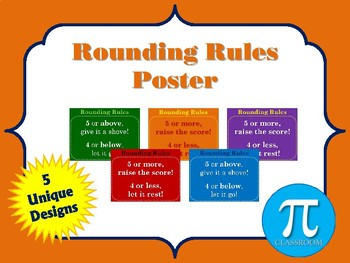 Rounding Rules Posters