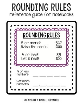 Rounding Rules - Reference for Notebooks