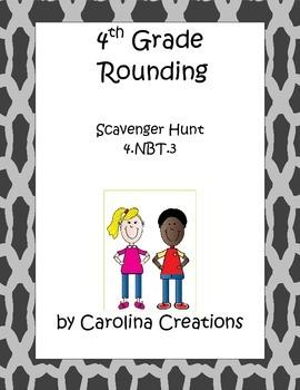 Rounding Scavenger Hunt Fourth Grade Common Core Math 4.nbt.3