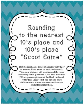 Rounding Scoot Game