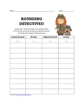 Rounding Sleuths Worksheet & Skill Sheet!