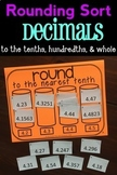 Rounding Sort: Decimal Numbers to the Tenths, Hundredths,