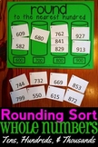 Rounding Sort (Tens, Hundreds, & Thousands), Math Center, Montessori, 4.NBT.3