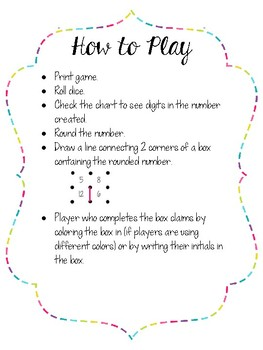 Rounding Squares Games