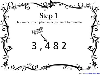 Rounding - Step by Step Classroom Posters and Differentiated Worksheet Bundle