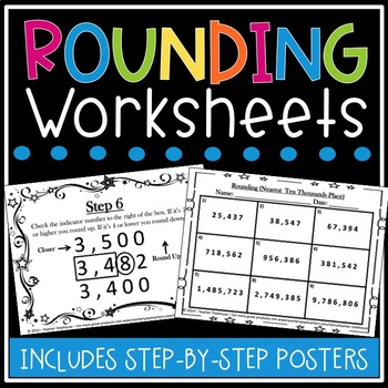 Rounding Worksheets - Rounding Posters - Rounding Decimals Worksheets