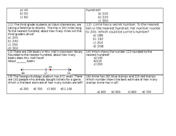Rounding Study Guide & Test 3.NBT.1