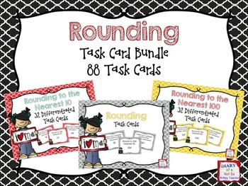 Rounding Task Card Bundle: 88 Task Cards