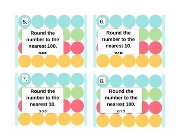 Rounding Task Card Game