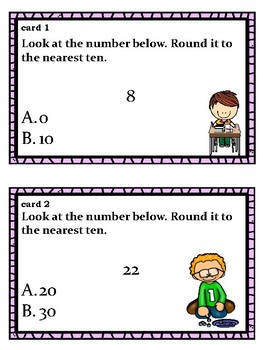 Rounding Task Card for Lower Elementary Students