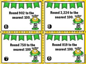 Rounding Task Cards - TEKS 3.2C