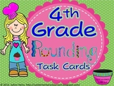 4th Grade Rounding Numbers Task Cards