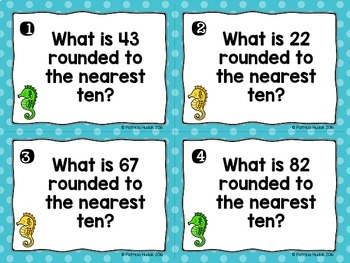 Rounding Task Cards: 2 Digit Numbers