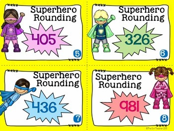 Rounding to the Tens and Hundreds Task Cards