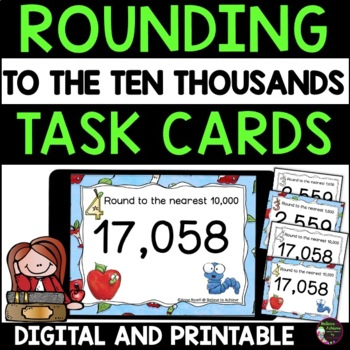 Place Value Task Cards (Rounding)