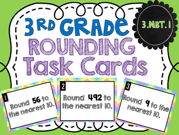 FREE Rounding Task Cards