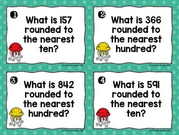 Rounding Task Cards: 3 Digit Numbers
