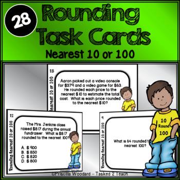Rounding Task Cards 3.NBT.1