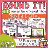 Rounding Task Cards for Grade 4