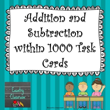 Adding Subtracting Within 1000 Teaching Resources | Teachers Pay ...