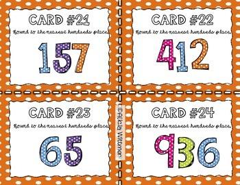 Rounding Task Cards BUNDLE {Tens, Hundreds, Mixed}