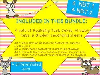 Rounding Task Cards Bundle