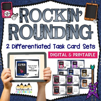 Rounding Task Cards { Common Core & Differentiated for 3rd