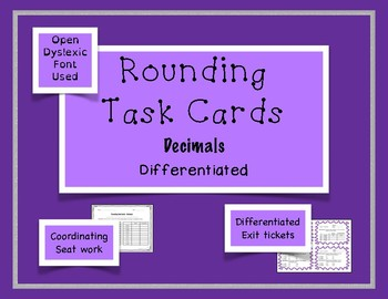 Rounding Task Cards - Decimals - {Differentiated}