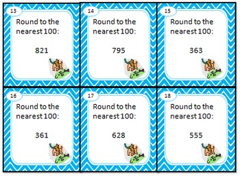 Rounding Task Cards Differentiated by Difficulty in Tiered Practice