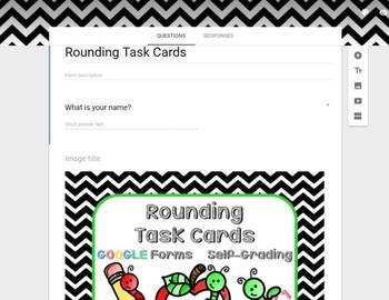Rounding Task Cards Google Classroom Self Grading