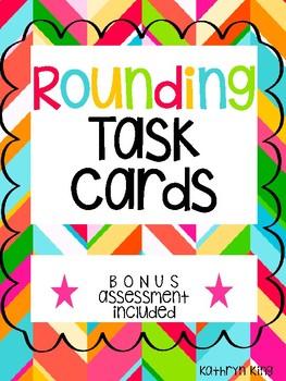 Rounding Task Cards Math Center Activity 3.NBT.1 Assessment