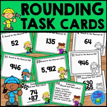 Rounding Task Cards - Nearest 10, 100, 1,000
