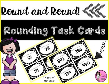 Rounding Task Cards {Nearest 10 and 100}