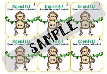 Rounding Task Cards - Nearest 100
