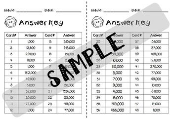 Rounding Task Cards - Nearest 1000