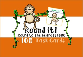 Rounding Task Cards - Nearest 1000