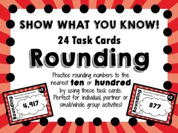 Rounding Task Cards - Nearest Ten or Hundred