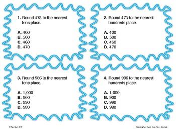 Rounding Task Cards - Ones, Tens, Hundreds {Differentiated}