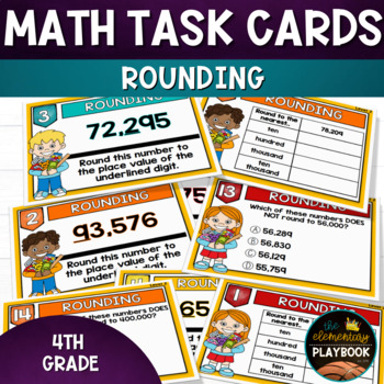 Rounding Task Cards (4th Grade) Place Value