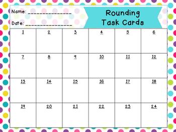 Rounding Task Cards | Round to Nearest Ten