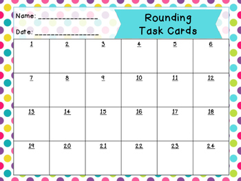 Rounding Task Cards | Round to Nearest Ten