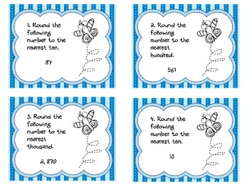 Rounding Task Cards - Set A