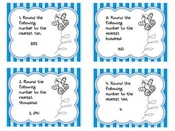 Rounding Task Cards- Set B