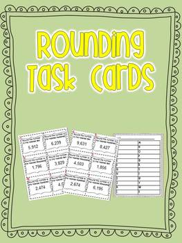 Rounding Task Cards-Tens, Hundreds, Thousands