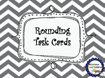 Rounding Task Cards - Tens and Hundreds