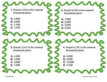Rounding Task Cards - Thousands Period {Differentiated} + Exit Tickets