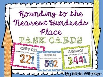 Rounding Task Cards {To the Nearest HUNDREDS}