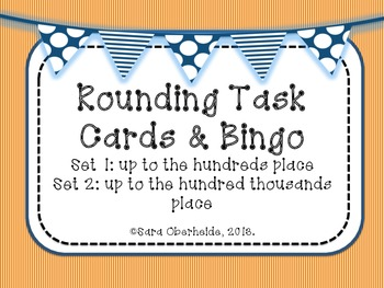 Rounding Task Cards and Bingo -2 differentiated sets w/ an