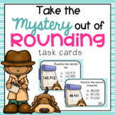 Rounding Task Cards for Fourth Grade 4.NBT.3