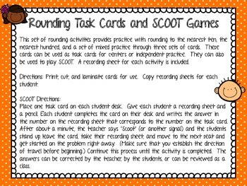 Rounding Task Cards and SCOOT Games